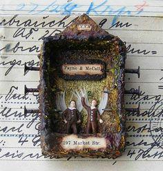 Colorful Adventures: Miniature Matchbox Shrines