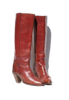 Vintage FRYE Black Label Burgundy Boots