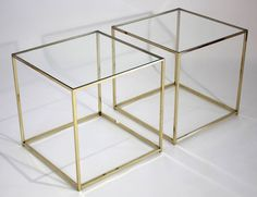 Glass Cube End Table