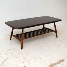Retro Solid Elm Coffee Table by Ercol vintage Furniture, Retro, Retro Vintage, Table, Home Decor, Ercol, Lounge Furniture, Coffee Table, Vintage