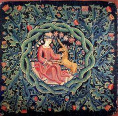 AGS-034 Die Jungfrau mit dem Einhorn, 1c uhr Köln, 1475 - 1500