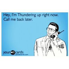 Thunder Up Folks who know me know don't call when the Thunder are playing, lol.