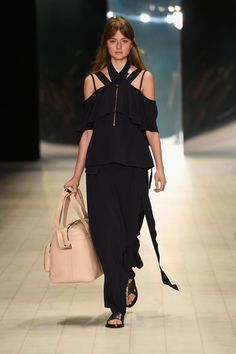 A model walks the runway during the Ginger & Smart show at Mercedes-Benz Fashion Week Resort 17 Collections at Carriageworks on May 16, 2016 in Sydney, Australia.