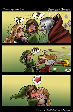 Zelda - Skyward Sword: No face lickin' mah man! by *TiuanaRui on deviantART