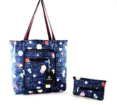 Foldable Tote Bag for Women-Top Zipper Closure Premium Quality Lightweight Cute (Blue) Shanta Best Travel Bags, Best Tote Bags, Cute Tote Bags, Floral Tote Bags, Hospital Bag, Purses For Sale, Gifts For Girls, Bag Sale, Gift Bags