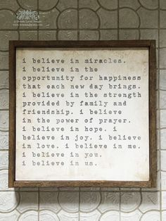 I Believe in Us Sign Wedding Gift Engagement Gift Wedding Gift Ideas Gift for Her Support Gift Encouragement Gift Modern Farmhouse by bonnielecat on Etsy This Is Us Quotes, Quotes To Live By, Love Quotes, Inspirational Quotes, Amazing Quotes, Motivational, Funny Quotes, I Believe In Love, Believe In Miracles