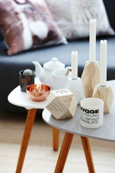 candelabros de madera low cost