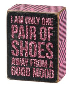 Look at this 'One Pair of Shoes' Block on #zulily today!