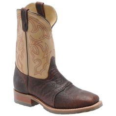 "Double H Boot - Mens - 11"" Steel Toe Bison Roper Double H Boot. $179.00"