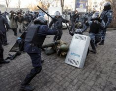 Riot police include special forces known as 'Berkut,' which was first formed in 1988 as part of the Soviet OMON (Special Purpose Police Unit), a vicious riot police and paramilitary force.