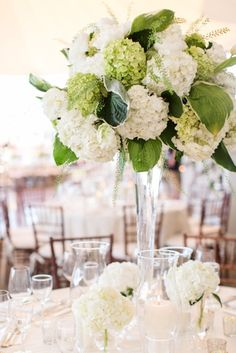 Green and White Black Tie Tent Wedding Reception Decor at Belle Haven Club in Greenwich Photo by Jessica Haley