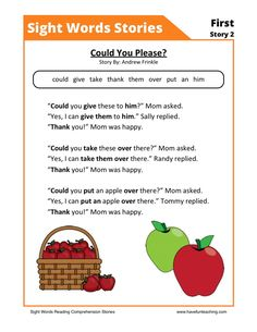 This Reading Comprehension Worksheet - Could You Please? is for teaching reading comprehension. Use this reading comprehension story to teach reading comprehension. Free Reading Comprehension Worksheets, First Grade Reading Comprehension, Phonics Reading, Kindergarten Reading, Teaching Reading, Kindergarten Worksheets, Reading Response, Comprehension Strategies, Phonics Activities