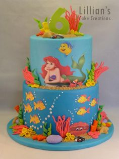 Little+Mermaid+cake+-+Cake+by+Lilly09