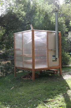 Photo 8 of 12 in This Translucent, Prefab Sauna Is the Perfect Backyard Addition - Dwell Sauna House, Sauna Room, Tiny House Cabin, Sauna Design, Cabin Design, Saunas, Building A Sauna, Glamping, Outdoor Sauna