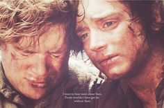 Frodo wouldn't have gotten far without Sam. Rings Film, Earth Memes, Misty Eyes, J. R. R. Tolkien, Next Top Model, Middle Earth, Lord Of The Rings, Lotr, The Hobbit