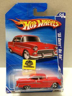(TAS008954) - Mattel Hot Wheels Racing Stock Car - '55 Chevy Bel Air
