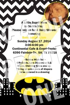 Batman Baby Shower Theme Visit My Page At Https://www.facebook.
