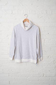 Grey Funnel Neck Sweatshirt
