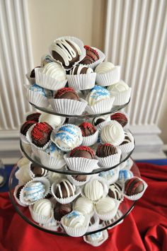 Cake Balls instead of a traditional wedding cake