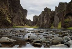 Fjaðrárgljúfur Canyon Iceland The Fjaðrárgljúfur Canyon, Iceland