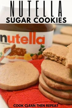 Is there anything better than sugar cookies? Normally I'd say no, but now I have to amend that to say that Nutella cookies are amazing and if you like sugar cookies you will love these soft and chewy Nutella sugar cookies! Mini Desserts, Great Desserts, Sugar Cookies Recipe, Cookie Recipes, Dessert Recipes, Nutella Recipes, Breakfast Recipes, Oreo Dessert, Crackers