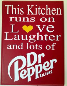 Lots of Dr. Pepper Sign by TheRentHouse on Etsy Texas, Trust, Dr Pepper, Sign I, Coca Cola, Laughter, Things I Want, Stuffed Peppers, Humor