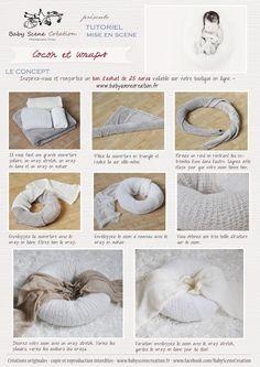 Tutoriel : positionner un nouveau- né et les accessoires pour une image cocon et wrap. Formation photo naissance