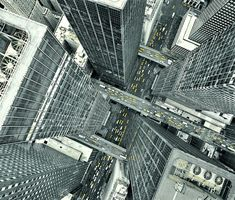 NYC. Manhattan's bird's eye view