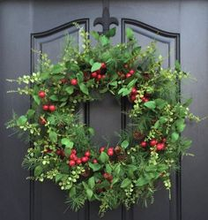 Red Berry Wreath, Christmas Red Berry Wreath, Holiday Home Decor, Evergreen and Pine Wreath, Artific Grapevine Christmas, Artificial Christmas Wreaths, Christmas Swags, Outdoor Christmas Decorations, Holiday Wreaths, Red Christmas, Christmas Crafts, Holiday Decor, Winter Wreaths