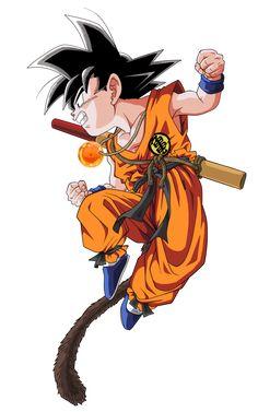 Kid Goku from Dragon Ball Z Dragon Ball Gt, Kid Goku, Manga Anime, Anime Art, Manga Dragon, D Mark, Anime Comics, Akira, Anime Characters