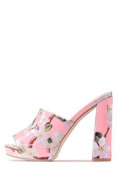 Jeffrey Campbell Shoes CHIKA-NS Shop All in Pink Floral