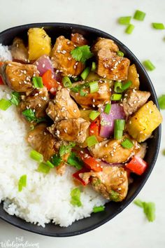 Sheet Pan Teriyaki Chicken with Pineapple is where weeknight, one-pan meal, ease meets scrumptious a Healthy Dinner Options, Paleo Dinner, Easy Dinner Recipes, Dinner Ideas, Healthy Dinners, Clean Meals, Meal Ideas, Paleo Recipes, Real Food Recipes