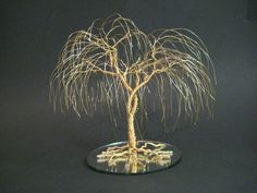 Wedding Cake Topper - When Two Become One Gold Willow FREE Shipping w/PREORDER. $79.00, via Etsy.