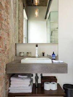 pia de banheiro de concreto - Google Search