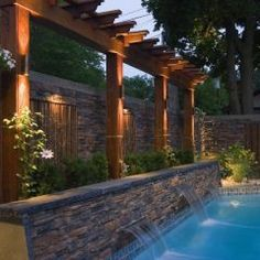 pretty pool landscaping