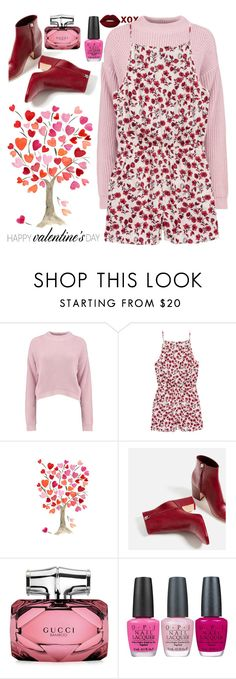 """""""I'd give you flowers"""" by lseed87 ❤ liked on Polyvore featuring Boohoo, H&M, Piel Leather, Gucci, OPI and Lime Crime"""