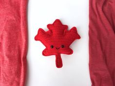 Maple Leaf Amigurumi Free Crochet Pattern