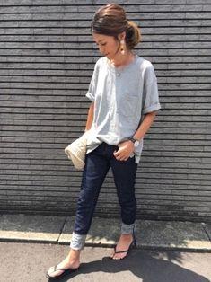 TODAYFULのデニムパンツ「NATALIE's デニム」を使ったyukoのコーディネートです。WEARはモデル・俳優・ショップスタッフなどの着こなしをチェックできるファッションコーディネートサイトです。