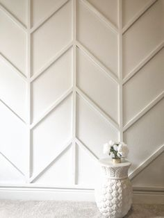 Feature Wall Bedroom, Accent Walls In Living Room, Accent Wall Bedroom, Feature Walls, Tiled Wall Living Room, Wood Accent Walls, Wood Wall Paneling, Dining Room Feature Wall, Accent Wall Panels