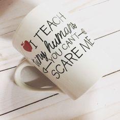Best funny sayings coffee mugs 66 ideas Teacher Assistant Gifts, Teacher Appreciation Gifts, Teacher Presents, Teacher Cards, Teacher Quotes, Teacher Humor, Funny Coffee Cups, Coffee Mugs, Preschool Teacher Gifts