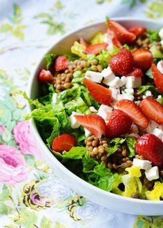 Lentil & Strawberry Salad