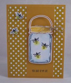 Jar of Fireflies Card by HeatherHolbrook - Cards and Paper Crafts at Splitcoaststampers