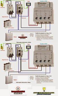 Esquemas eléctricos: esquemas electricos telerruptores finder 3y4hilos