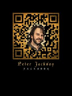 Peter Jackson QR code linking to his official Facebook page