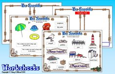 EYFS & Seaside Topic Printable Activities Sets & PowerPoints - Backdrops for Roleplay Teaching & Learning Activities Geography Activities, Physical Geography, Learning Activities, Primary Teaching, Rock Pools, Sea Theme, Eyfs, Beach Themes, Asd