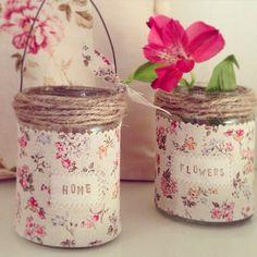 Mason Jar Diy, Mason Jar Crafts, Bottle Crafts, Tin Can Crafts, Crafts To Make, Crafts With Glass Jars, Tin Can Art, Recycled Tin Cans, Recycle Cans
