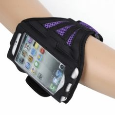 Purple Mesh Style Outdoor Sports Armband Bag for iPhone 5 $14