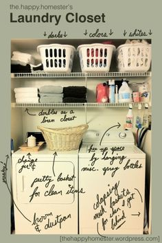 This is cool -- some things to remember when arranging your laundry closet... @James Barnes Barnes Barnes Asbury