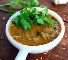 Fat-Free Slow Cooker Dal - ahhh, comfort food! http://holycowvegan.net/2013/12/fat-free-slow-cooker-dal.html