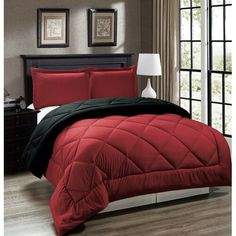 black and red comforter set king size Red Comforter Sets, Black Comforter, Best Bedding Sets, Queen Bedding Sets, Queen Comforter Sets, Twin Comforter, Red And Black Bedding, Black Bed Linen, King Bedroom Sets